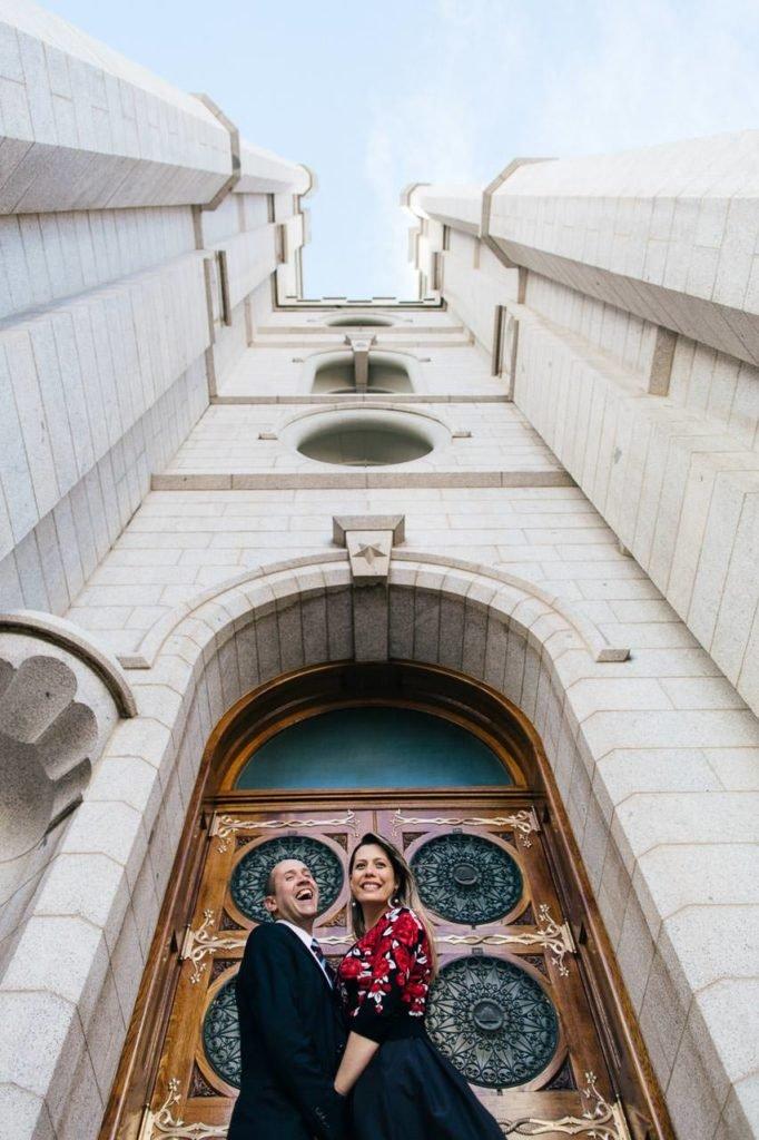 fotos de casal no templo de salt lake city